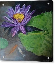 Our Home Under The Lily Pads Acrylic Print