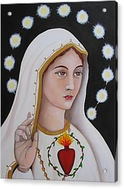 Our Lady Of Fatima Acrylic Print by Christina Miller