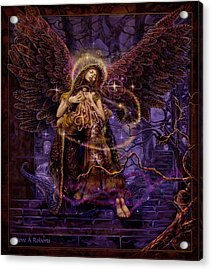 Acrylic Print featuring the painting Our Lady Of Redemption by Steve Roberts