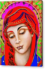 Our Lady Of Sorrows Acrylic Print by Christina Miller