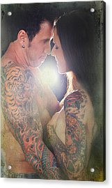 Our Love Shines Acrylic Print by Laurie Search