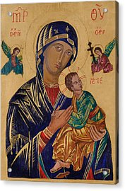 Our Mother Of Perpetual Help Acrylic Print by Camelia Apostol