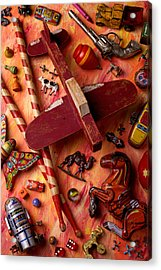 Our Old Toys Acrylic Print by Garry Gay
