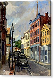 Our Town North Adams Acrylic Print by Thor Wickstrom