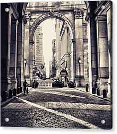 Out From Shadows - Manhattan Municipal Building - New York City Acrylic Print
