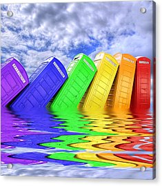 Out Of Order - A Rainbow - Kingston - Surrey Acrylic Print by Colin J Williams Photography