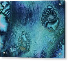 Acrylic Print featuring the painting Out Of The Depths by Mary Sullivan