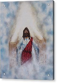 Out Of The Midst Of The Throne Came The Lamb Acrylic Print by Thomas Lentz
