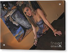 Acrylic Print featuring the photograph Out Of The Painting by Sherry Davis