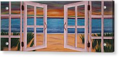 Out The Window Acrylic Print by Kat Starr