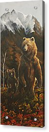 Out With Mom Acrylic Print by Scott Thompson