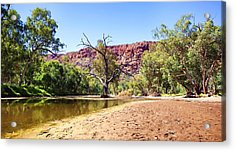 Acrylic Print featuring the photograph Outback River by Paul Svensen