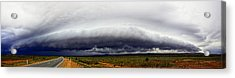 Outback Storm Panorama Acrylic Print by Paul Svensen