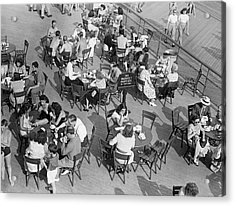 Outdoor Cafe Scene Acrylic Print by George Marks