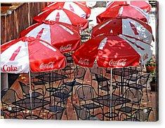 Outdoor Dining Acrylic Print by Susan Leggett