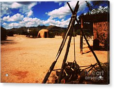 Outdoor Village Movie Set Acrylic Print by Susanne Van Hulst