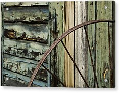 Acrylic Print featuring the photograph Outside Of An Old Barn by Nancy De Flon