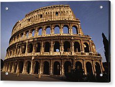 Outside Of The Collosseum, Rome, Italy Acrylic Print by Paul Chesley