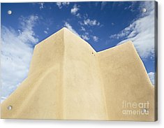Outside Wall Of The San Francisco De Asis Mission Church Acrylic Print by Bryan Mullennix