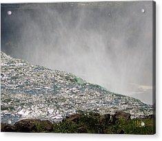 Over The Brink Of Niagara Falls  Acrylic Print by J R Baldini  M Photog