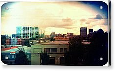 Over The City  Acrylic Print by Cathie Tyler