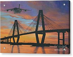 Over The Cooper Acrylic Print by Holly York