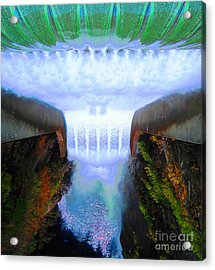 Acrylic Print featuring the photograph Over The Edge by Ann Johndro-Collins
