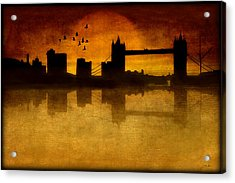 Over The Tower Bridge Acrylic Print by Tom York Images
