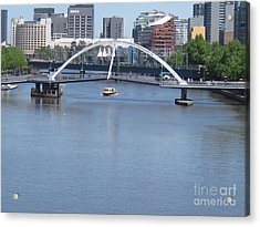Over The Yarra Acrylic Print by Donna Cavender