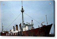 Overfalls Lightship Acrylic Print by Skip Willits
