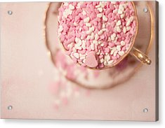 Overflowing Acrylic Print by Rebecca Cozart