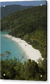 Overhead Of Trunk Bay Acrylic Print by Margie Politzer