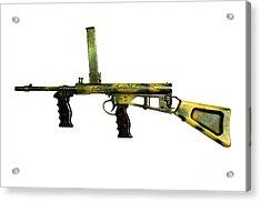 Owen Gun, An Australian 9mm Submachine Acrylic Print by Andrew Chittock