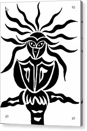 Owl Or Alien Two Acrylic Print by Beth Akerman