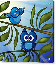 Owl Pal Acrylic Print by Melisa Meyers
