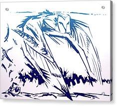 Owl Wind Acrylic Print