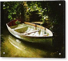 Oxford Boat And Dock Acrylic Print