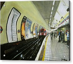 Oxford Circus Station Acrylic Print by Paul Mitchell