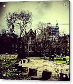 #oxfordroad #manchester #trees Acrylic Print