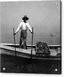 Oyster Fishing On The Chesapeake Bay - Maryland - C 1905 Acrylic Print by International  Images