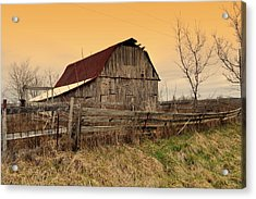 Acrylic Print featuring the photograph Ozark Barn 1 by Marty Koch