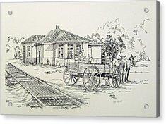 Ozark Depot Acrylic Print by Charles Sims