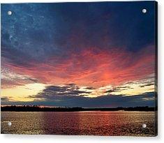 Ozello Sunset Acrylic Print by Judy Wanamaker