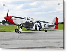 P-51d Mustang Acrylic Print by Dan Myers