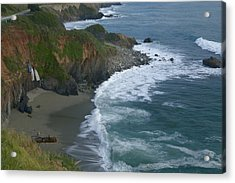 Pacific Coast California Highway 1 Seascape Acrylic Print by Gregory Scott