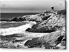 Pacific Lifeguard View In Bw Acrylic Print by John Rizzuto
