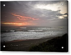 Pacific Ocean Sunset Acrylic Print by Richard Adams