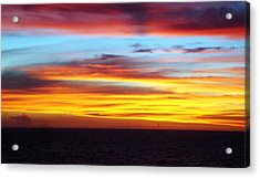 Pacific Sunset 5 Acrylic Print by Laura Porumb