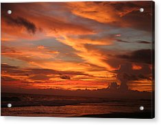 Pacific Sunset Costa Rica Acrylic Print by Michelle Wiarda
