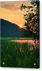 Acrylic Print featuring the photograph Pack River Delta Sunset 2 by Albert Seger
